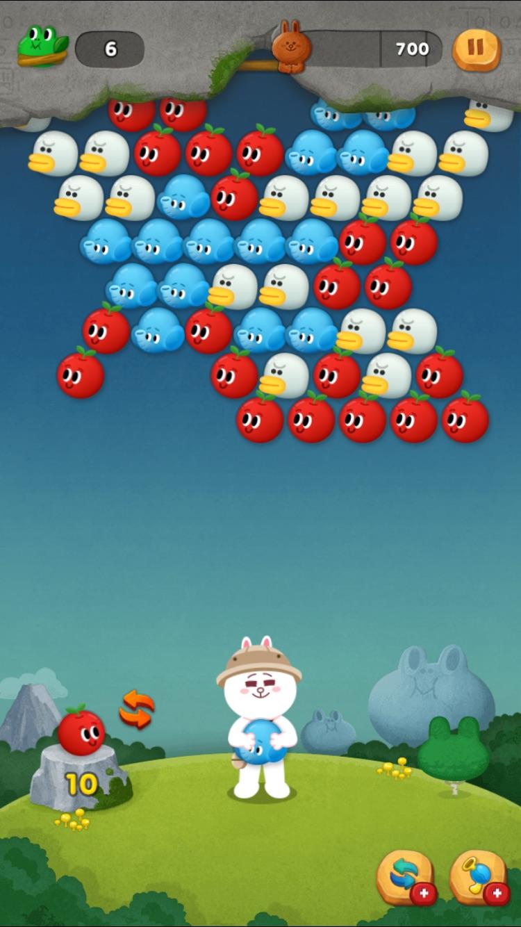 LINEバブル2 ゲーム画面