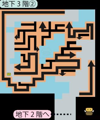 パデキアの洞くつ地下3階②のマップ