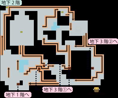 パデキアの洞くつ地下2階のマップ