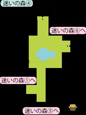 迷いの森④のマップ