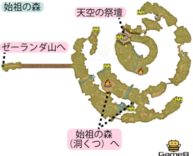始祖の森野マップ