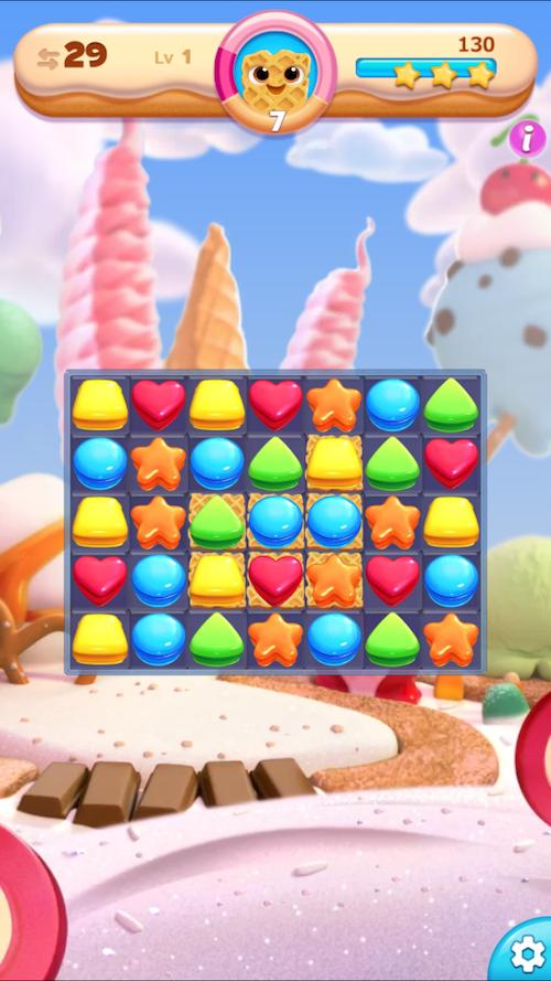 クッキージャムブラスト ゲーム画面