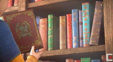 エンディングに登場する赤い本と緑の本