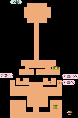 天馬の塔外観のマップ