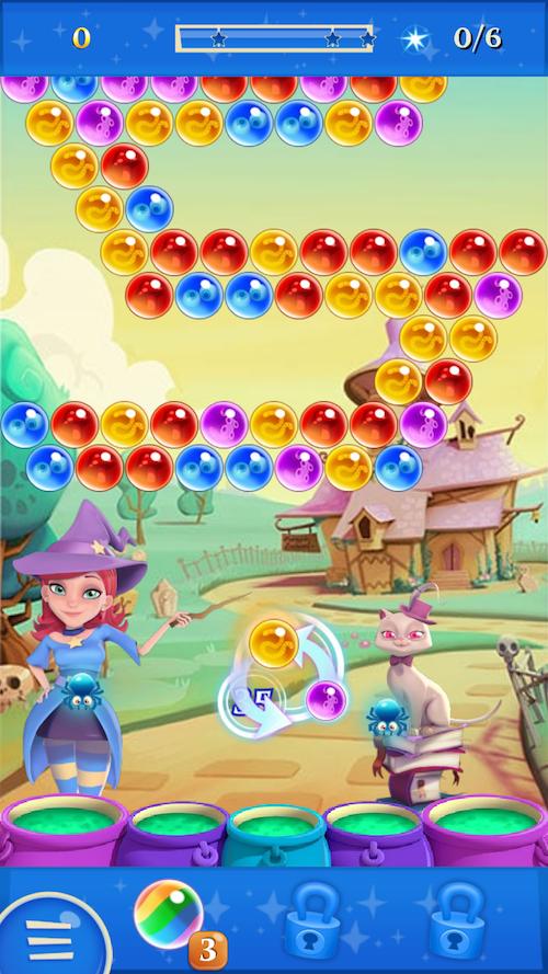 バブルウィッチ パズル画面