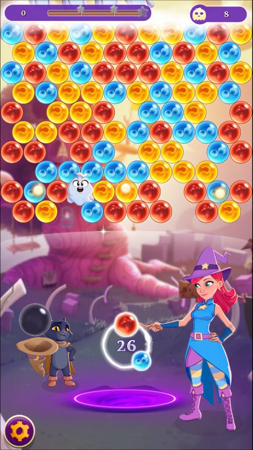 バブルウィッチ3 プレイ画面