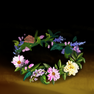 花手飾りの画像