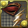 スーパーマン&フラッシュのエンブレムの画像
