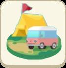キャンプ場のアイコン