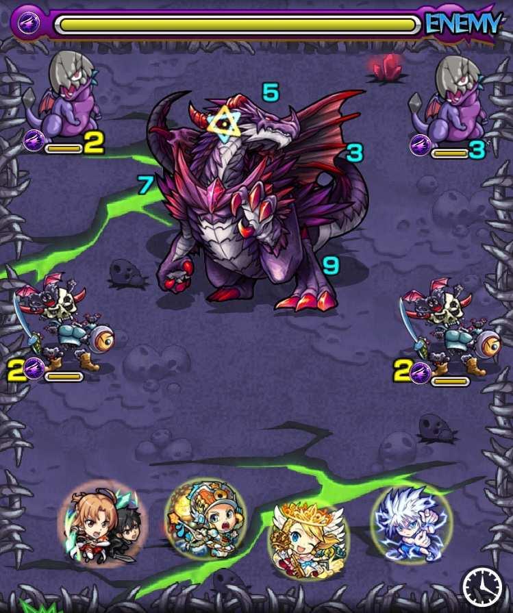 ダークドラゴンのステージ1攻略