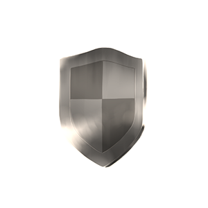 銀の盾オブジェの画像
