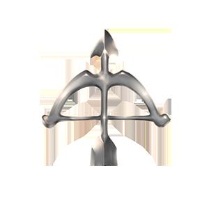 銀の弓オブジェの画像