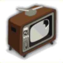古いテレビの画像