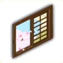 割れた窓(昼)の画像