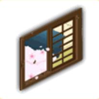 割れた窓(夜)の画像