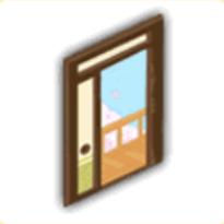 開けたドア(昼)の画像