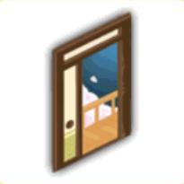 開けたドア(夜)の画像