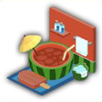 スイカ風呂の画像