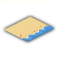 砂浜マットの画像