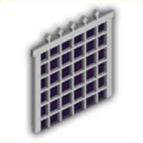 鉄の格子戸の画像