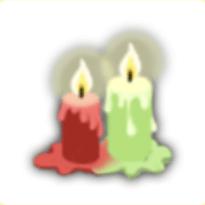 赤緑ロウソクの画像