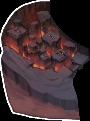 赤黒い谷の画像