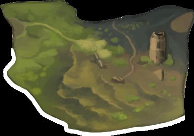 おぼろげな丘陵の画像