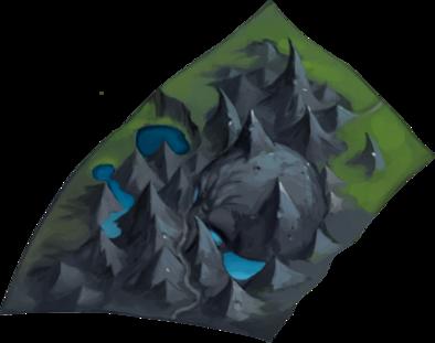 青空の伐採場の画像