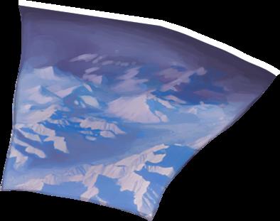 凍てついた渓谷の画像