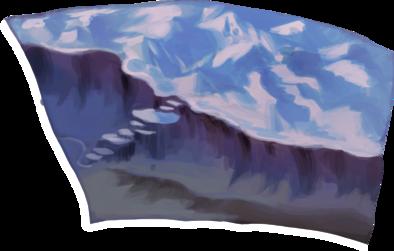 雪崩の丘の画像