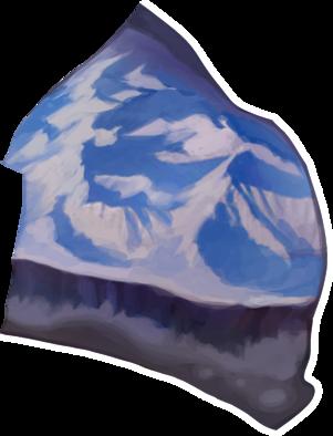 雪山平原の画像