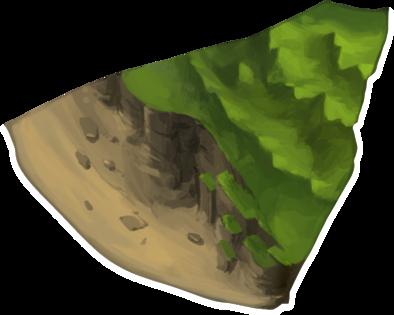 岩肌山脈の画像