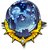 光り輝く月の王座の画像