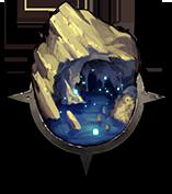 狭い石灰岩の洞窟の画像