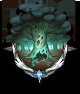 枯れ木だらけの森の画像