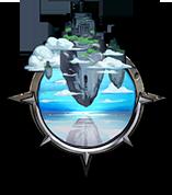 崩壊した天空の島の画像