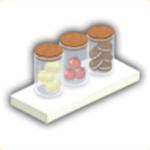 お菓子棚の画像