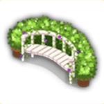 ガーデンの長椅子の画像