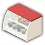 ケーキ棚の画像