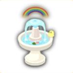 虹の噴水の画像