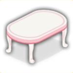 ピンクテーブルの画像