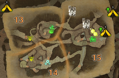 古代樹の森2層のマップ