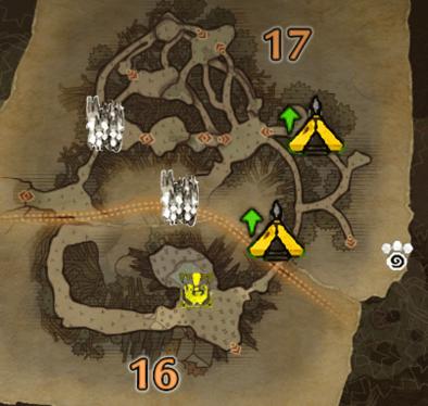 古代樹の森3層のマップ