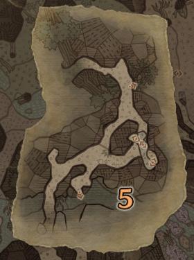 大蟻塚の荒地3層のマップ