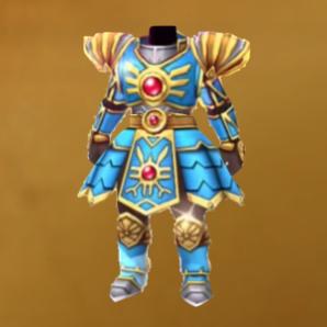 光の鎧の画像