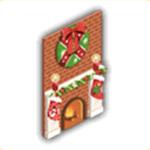 クリスマスの暖炉の画像