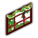 雪景色の窓の画像