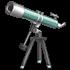 緑の天体望遠鏡の画像