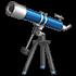青い天体望遠鏡の画像