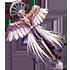赤い羽根の杖の画像